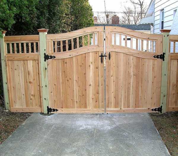 деревянные ворота под старину